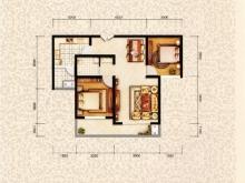 和昌国际城三期三期5户型2室2厅1卫 90㎡