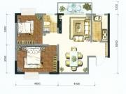 卧龙城B户型2室2厅1卫78.3㎡