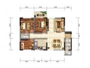 龙门广场B3户型3室2厅1卫113.56㎡