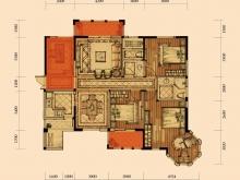 卢浮宫里尔①户型3室2厅2卫2阳台 131.42㎡