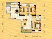 永美星城4期B户型3室2厅2卫2阳台127.99㎡