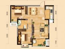 兴丽城B2户型2室2厅1卫1阳台 82㎡