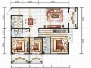 朝阳新天地F户型3室2厅2卫3阳台117.79㎡