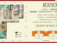 柳林春晓三期·合院A户型3室2厅2卫 123.09㎡