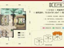 柳林春晓三期·合院E户型2室2厅1卫 79.55㎡