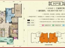 柳林春晓三期·合院H户型3室2厅2卫 139.15㎡