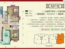 柳林春晓三期·合院M户型3室2厅2卫 151.61㎡