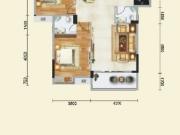 道和天下7#-2户型2室2厅2卫1阳台93.87㎡