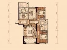 卢浮宫1户型3室2厅2卫1阳台 121.55㎡
