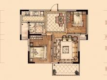 卢浮宫2户型2室2厅1卫1阳台 85.16㎡
