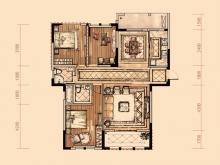 卢浮宫4户型3室2厅2卫1阳台 134.6㎡