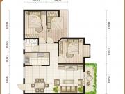 玉龙阁户型3室2厅1卫1阳台101.84㎡
