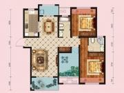 大美盛城Ⅱ期梧桐花园B3户型3室2厅2卫2阳台126.59㎡