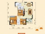 裕洋未来城C户型3室2厅2卫111.83㎡
