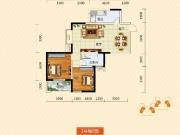 裕洋未来城B户型2室2厅1卫85.73㎡
