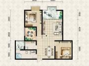 翱达公馆4户型3室2厅1卫1阳台92.79㎡
