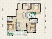 翱达公馆7户型3室2厅2卫1阳台137.97㎡