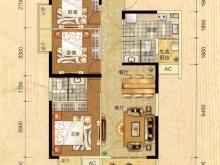 阳光栖谷B户型3室2厅2卫2阳台 113.03㎡