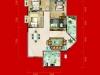 A2户型3室2厅2卫 122.3㎡