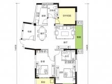天麟汇景园户型3室2厅2卫1阳台 129.07㎡