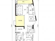 天麟汇景园户型2室2厅2卫2阳台 115.72㎡