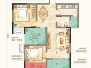 九州龙城G户型2室2厅1卫1阳台86.91㎡