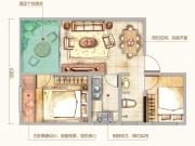 九州龙城K户型2室1厅1卫1阳台64.02㎡