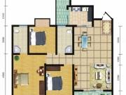 郧阳国际园6-A/B户型3室2厅2卫1阳台109.16㎡