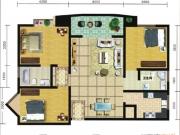 郧阳国际园6-C户型3室2厅2卫1阳台112.83㎡