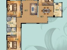 翰林世家禧园F户型3室2厅2卫2阳台 135.3㎡