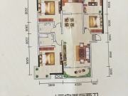 御景苑户型3室2厅2卫1阳台134.17㎡