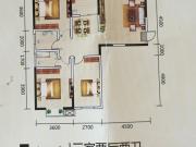 御景苑户型3室2厅2卫1阳台119.85㎡