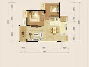国瑞蓝山郡B1户型2室2厅1卫80.63㎡