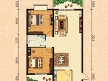 泰康花园7-B户型2室2厅1卫2阳台 97.10㎡