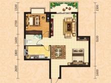 泰康花园7-C户型2室2厅1卫1阳台 70.23㎡