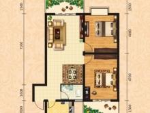 泰康花园7-D户型2室2厅1卫2阳台 91.00㎡