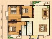 泰康花园7-A户型3室2厅2卫2阳台119.68㎡