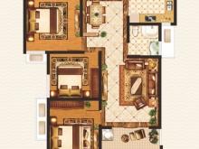外滩1号B-2户型3室2厅1卫1阳台 95.06㎡