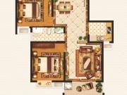 外滩1号B-4户型2室2厅1卫1阳台83.25㎡