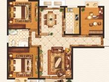 外滩1号B-5户型3室2厅1卫1阳台 106.68㎡