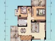 朝阳丽景B-1户型2室2厅1卫2阳台84.44㎡