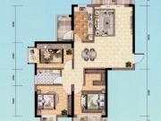 朝阳丽景D-4户型3室2厅1卫2阳台110.41㎡
