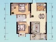 朝阳丽景D-3户型2室2厅1卫2阳台76.13㎡