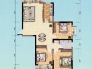朝阳丽景D-1户型3室2厅1卫2阳台121.77㎡