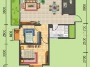 建地·堰岚山C户型2室2厅1卫2阳台84.6㎡