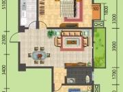 建地·堰岚山E户型2室2厅1卫1阳台100.8㎡