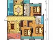 百强世纪城D2-3户型3室2厅2卫1阳台124.67㎡