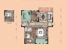 卢浮宫B1户型3室2厅2卫1阳台 131㎡