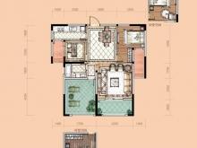 卢浮宫B2户型3室2厅1卫1阳台 100.77㎡