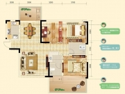 中房香山苑B户型3室2厅2卫2阳台124.32㎡